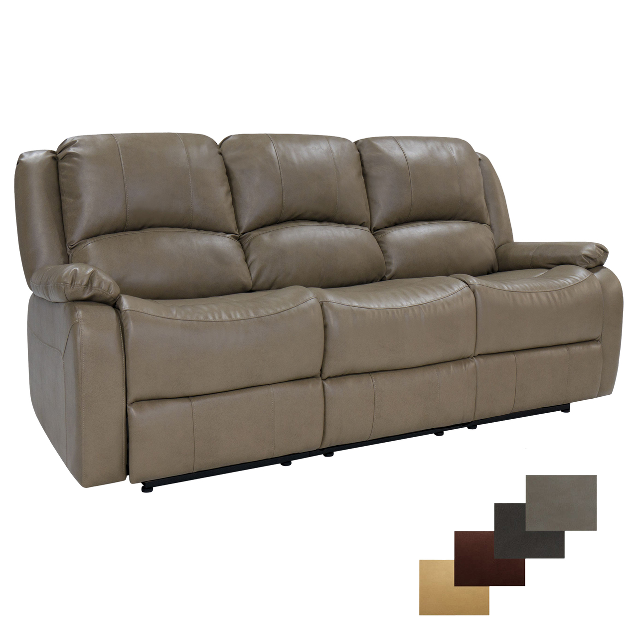 Furnitures Recpro Charles 80 Triple Rv Wall Hugger Recliner Sofa W