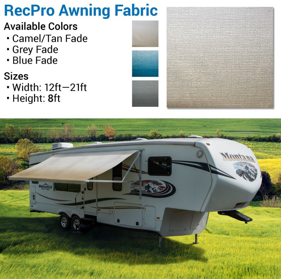 Awning: 14' RV Awning Replacement Fabric