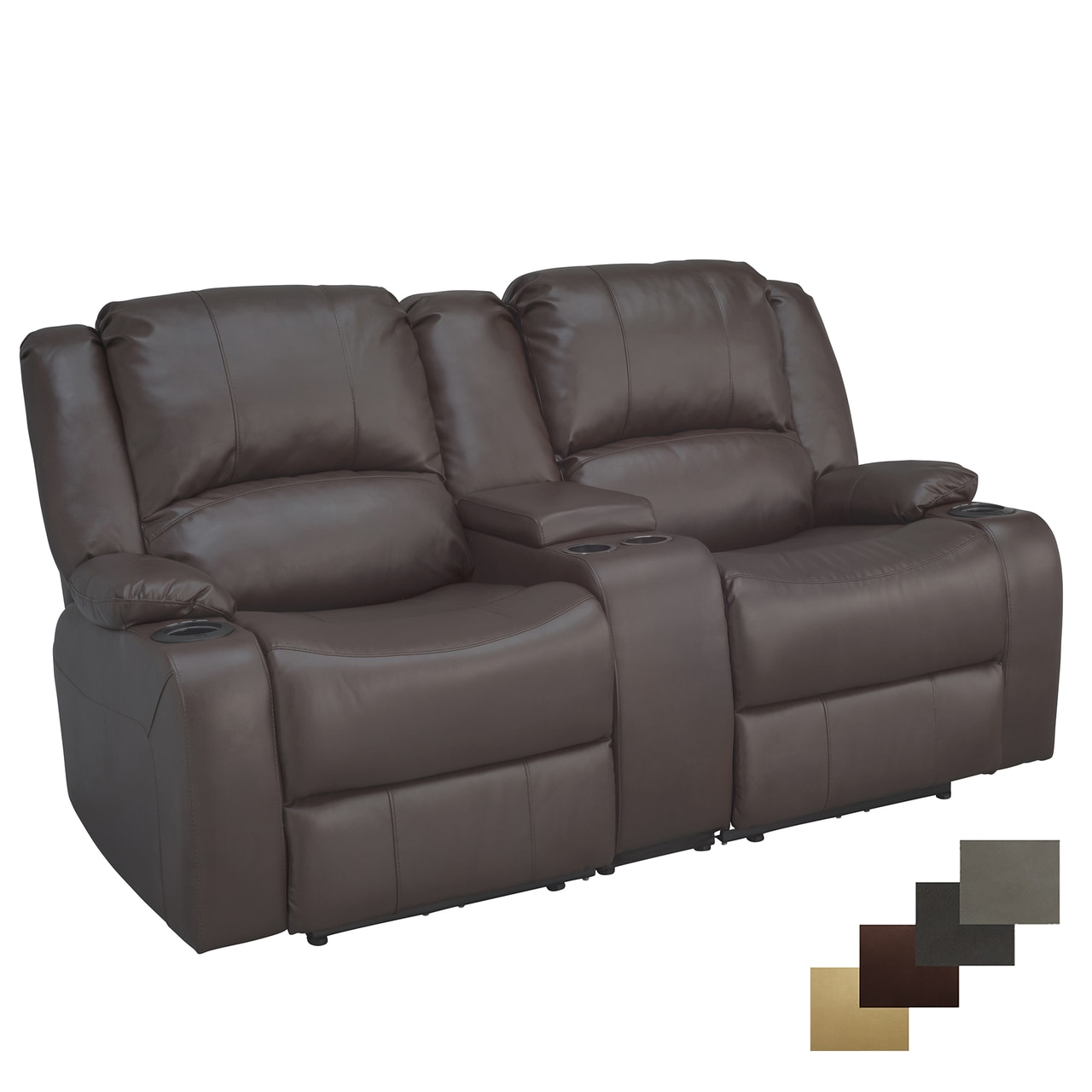 Recpro Charles 67 Ed Double Rv Wall Hugger Recliner Sofa W Console