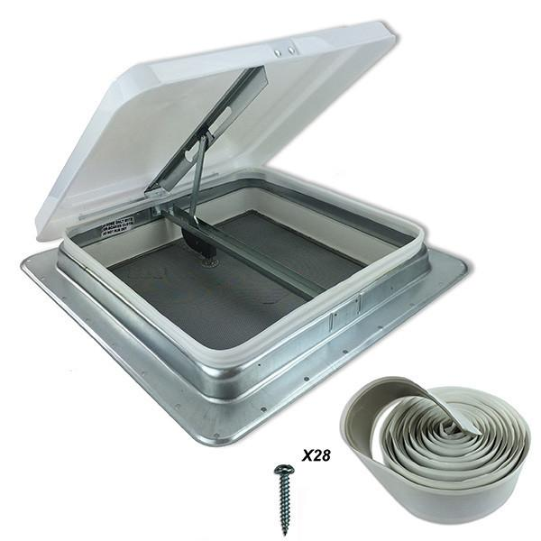 Hengs Industries Roof Vent 14 X 14 No Garnish 17-71111-C